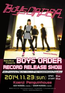 BOYS ORDER release party flyer